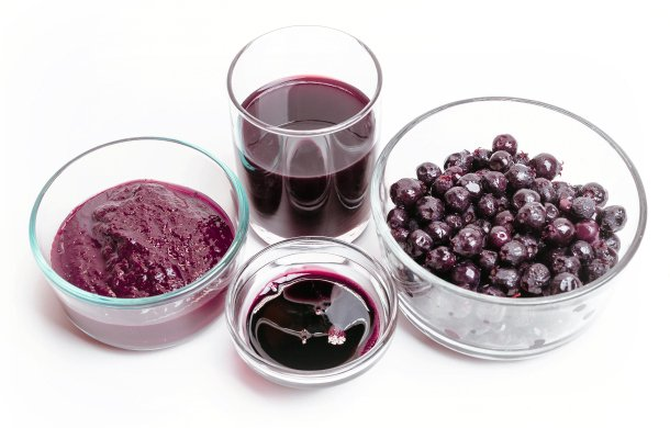 saskatoon berry puree, concentrate and frozen berries